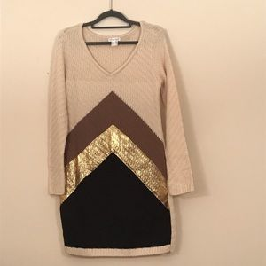 Venus chevron sweater dress